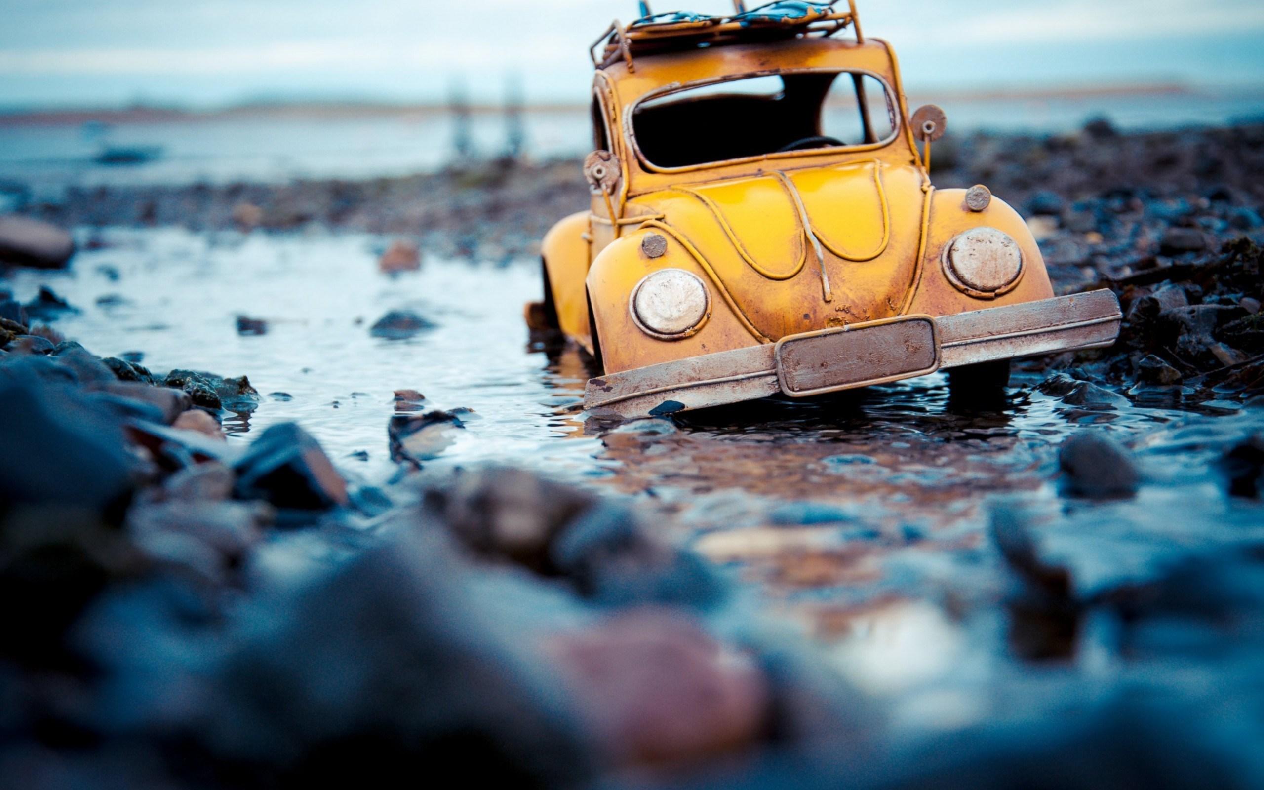 volkswagen beetle oyuncak su talar duygudurum HD duvar kad 2560x1600