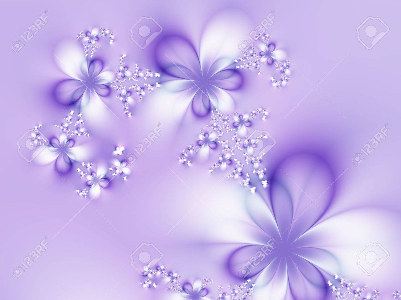 Beautiful Flowers On A Violet Background Stock Photo Picture And 1300x974