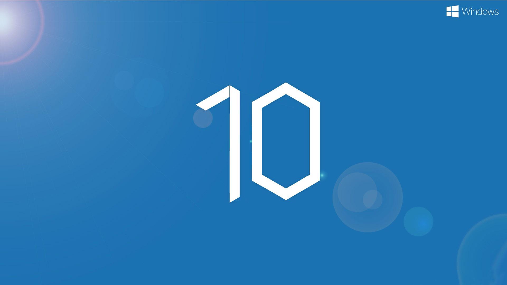 New Windows 10 Logo Desktop Wallpaper Wallpaper WallpaperLepi 1920x1080
