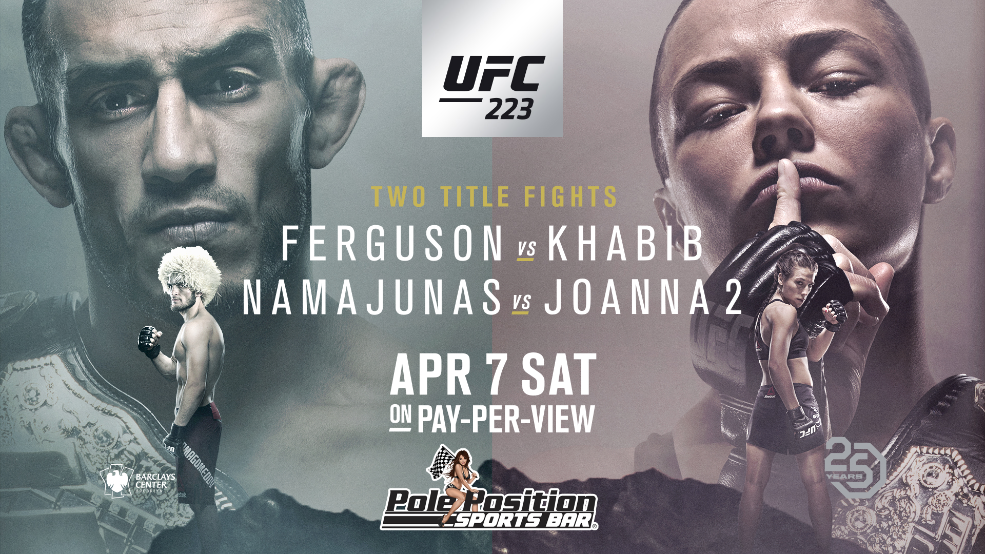 UFC 223 Ferguson vs Khabib Namajunas vs Joanna   No Cover at 1920x1080