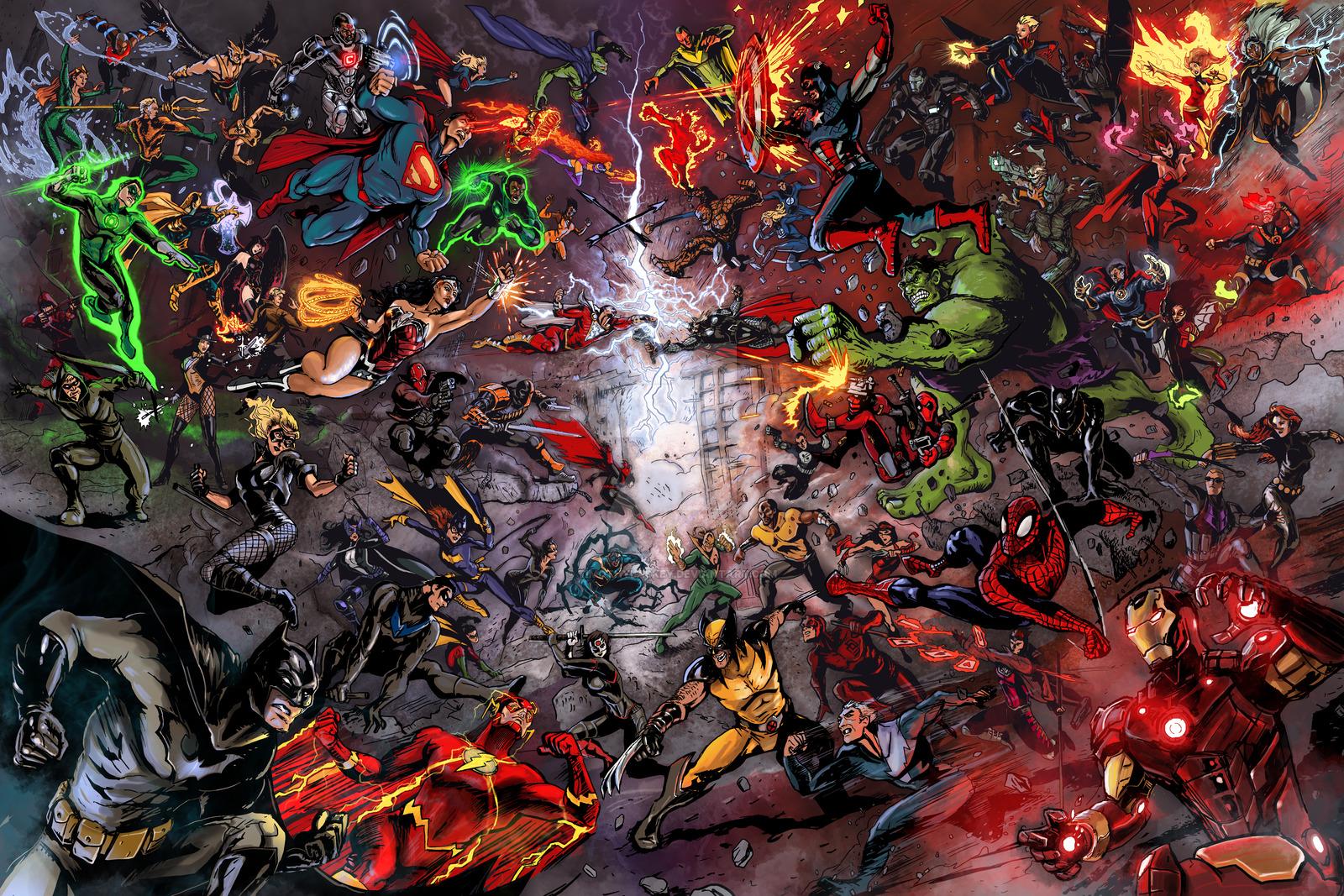 Dc vs marvel wallpaper wallpapersafari - Marvel and dc wallpapers ...
