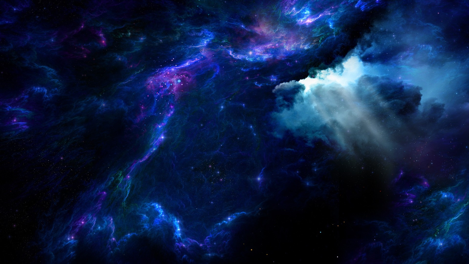 91 Blue Galaxy Wallpapers On Wallpapersafari