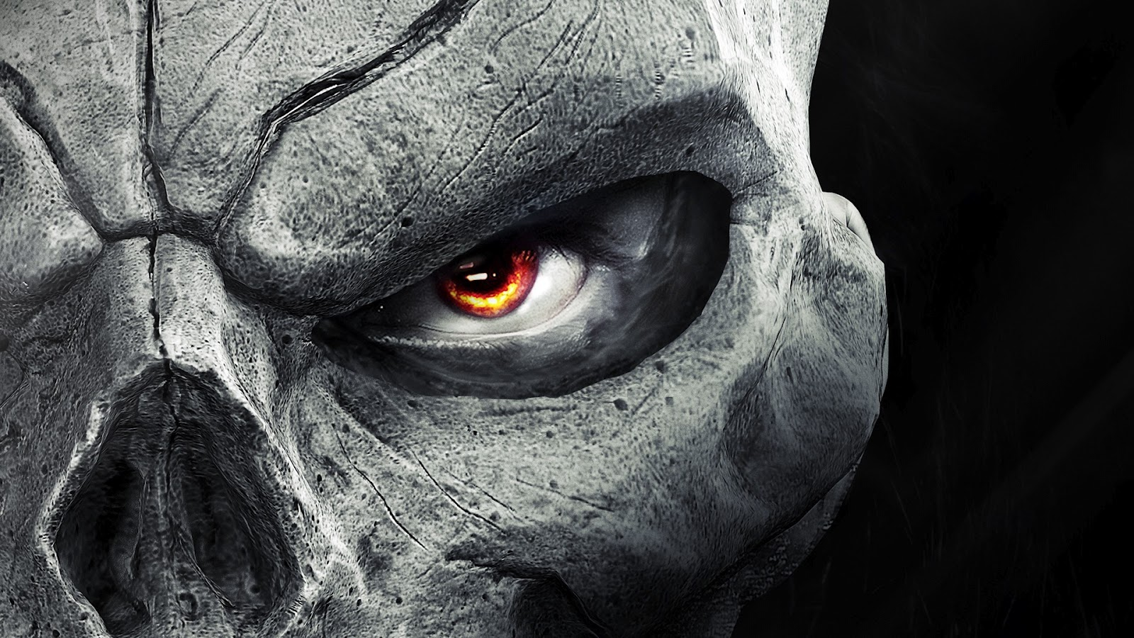 Skull Mask Flaming Eyes HD Wallpaper Download HD Video Game Wallpapers 1600x900