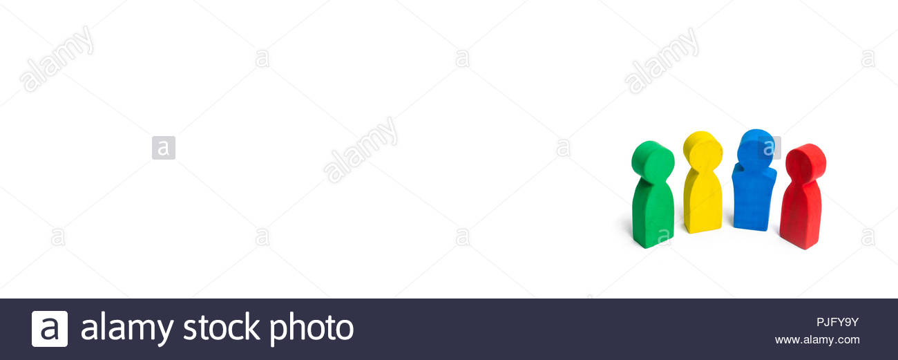 Multicolored people on a white background The concept of 1300x521