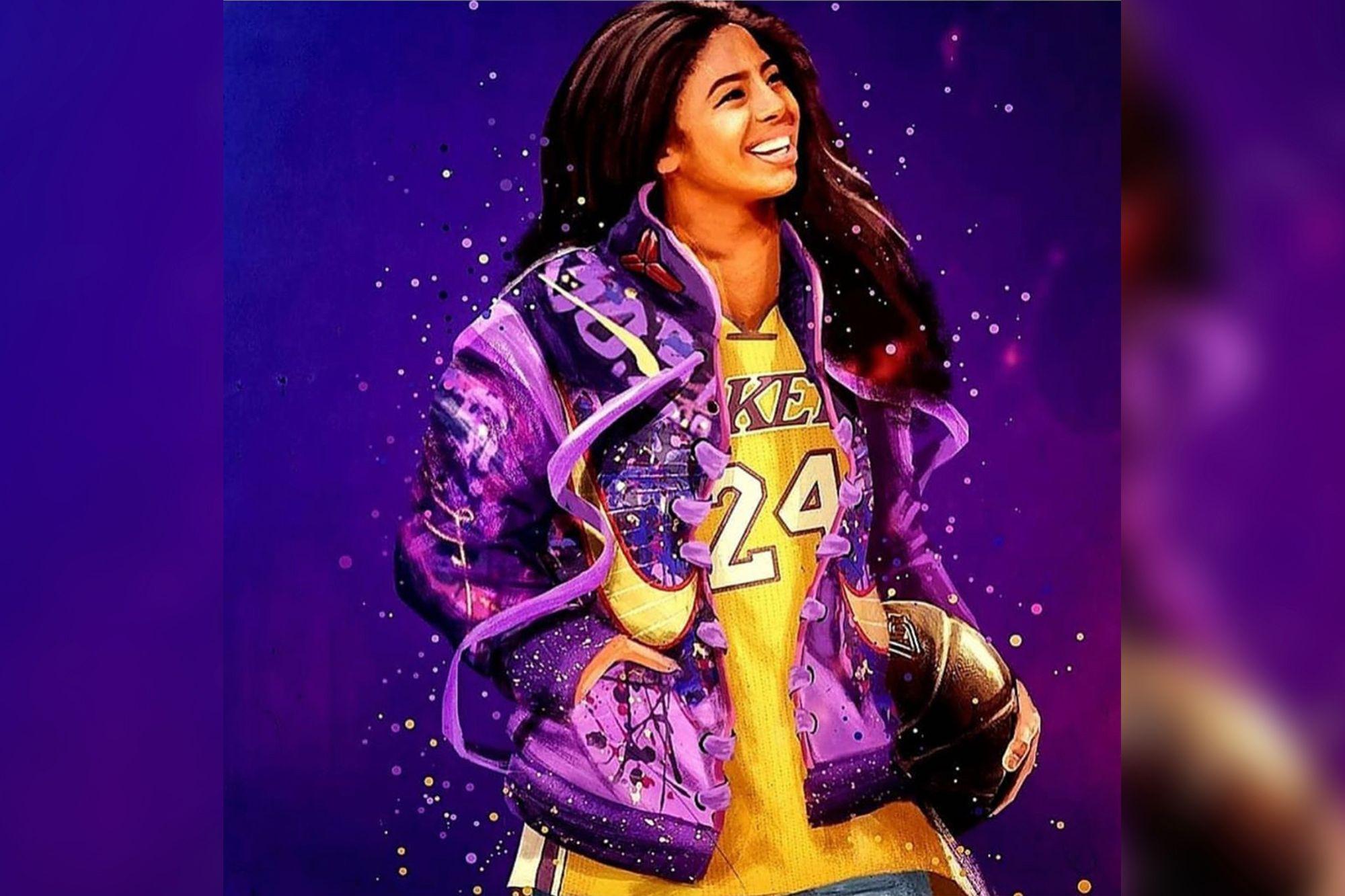 Kobe Bryants widow Vanessa posts fan art of daughter Gianna 2000x1333