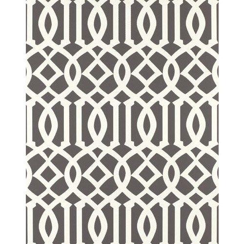 Kelly Wearstler Imperial Trellis Charcoal Wallpaper 500x500