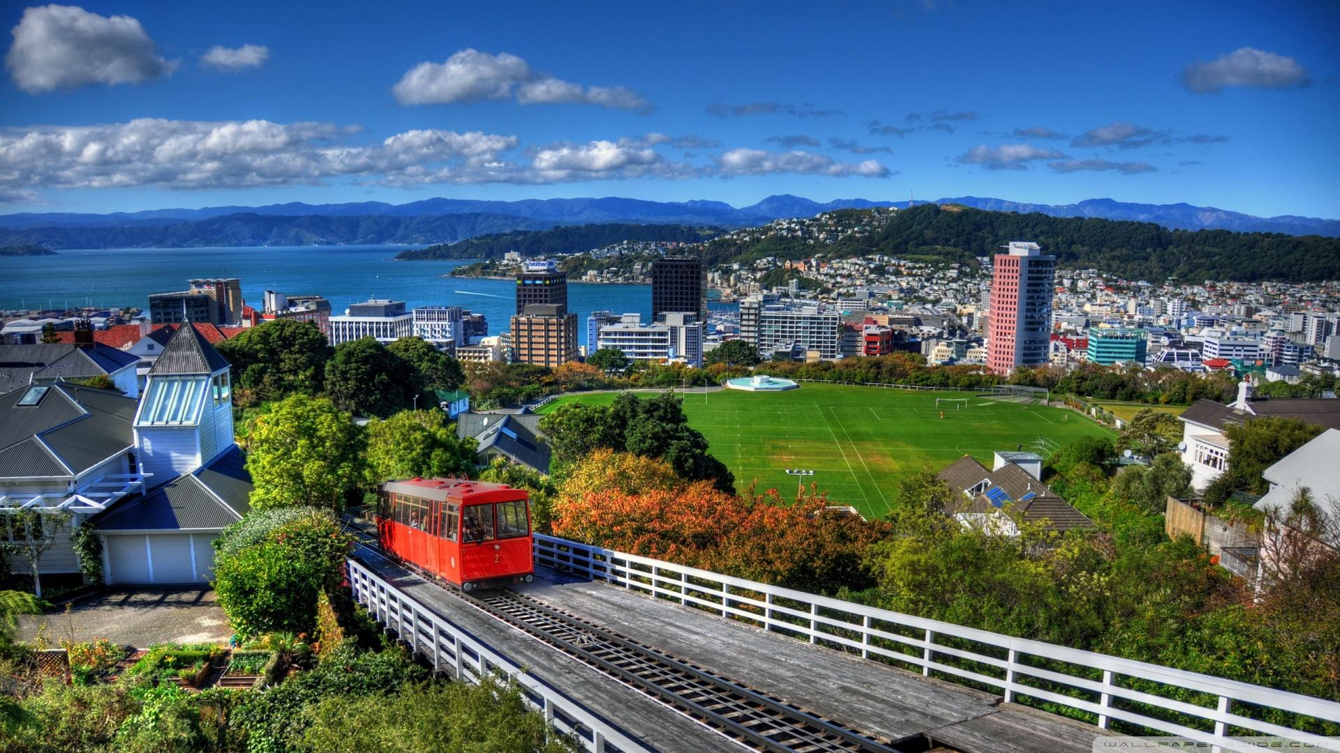 New Zealand Houses Wellington From Above 4K HD Desktop 1920x1080
