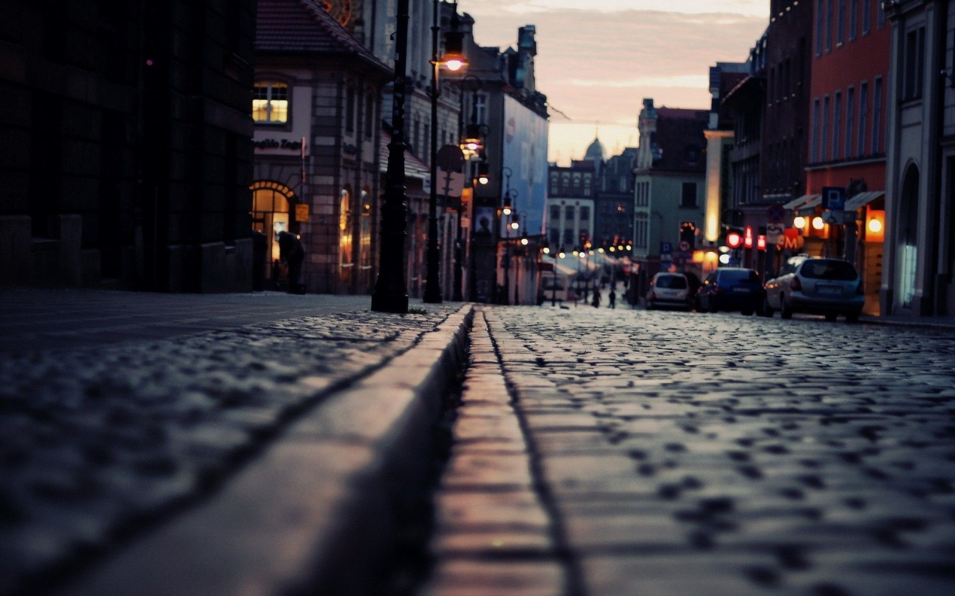 Small Alley Background for photography Night city Background 1920x1200