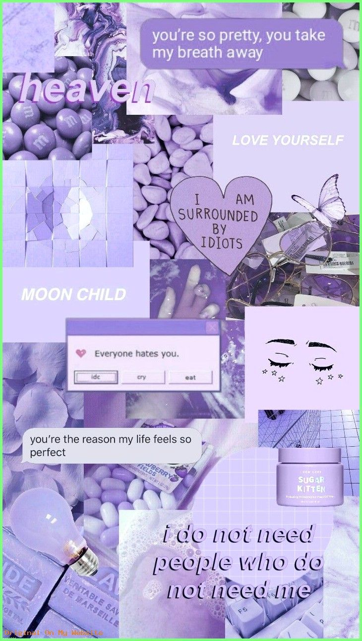 Iphone Wallpaper Aesthetic   purple aesthetic collage wallpapers 730x1290
