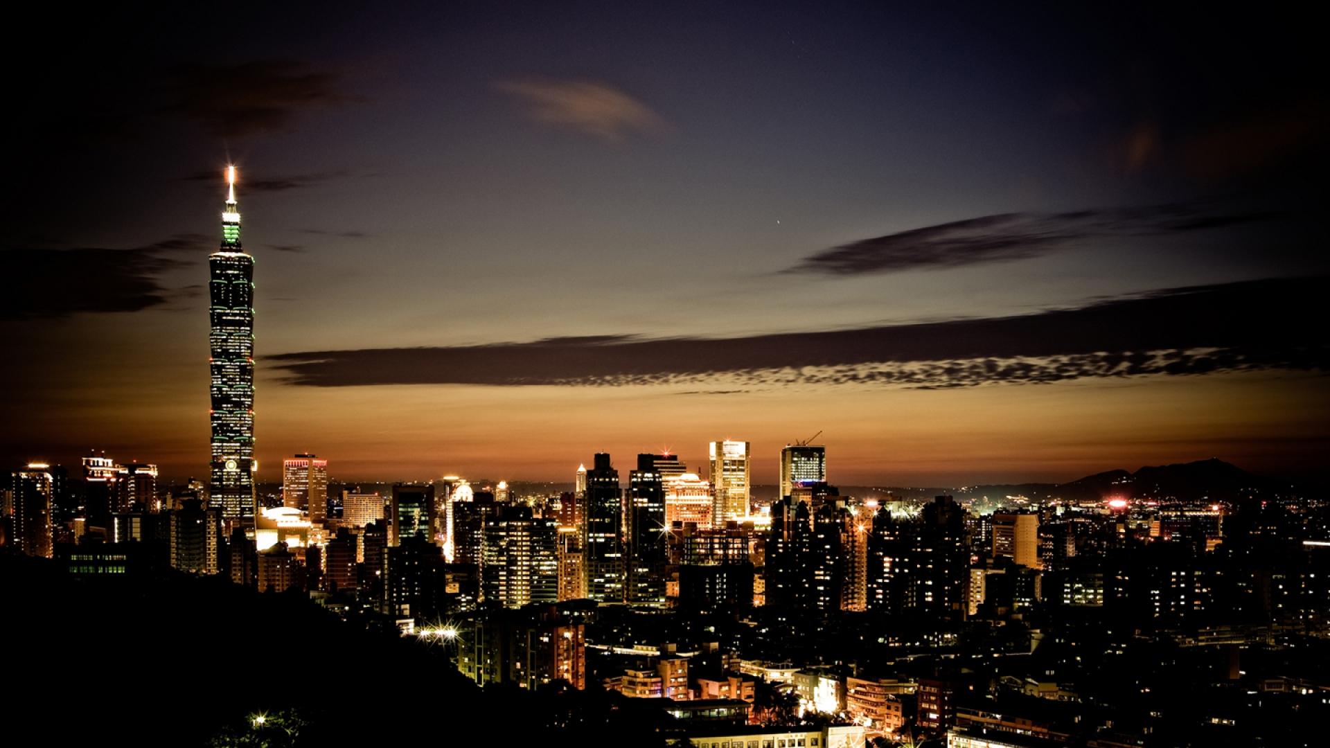 Download night time city wallpaper HD wallpaper 1920x1080