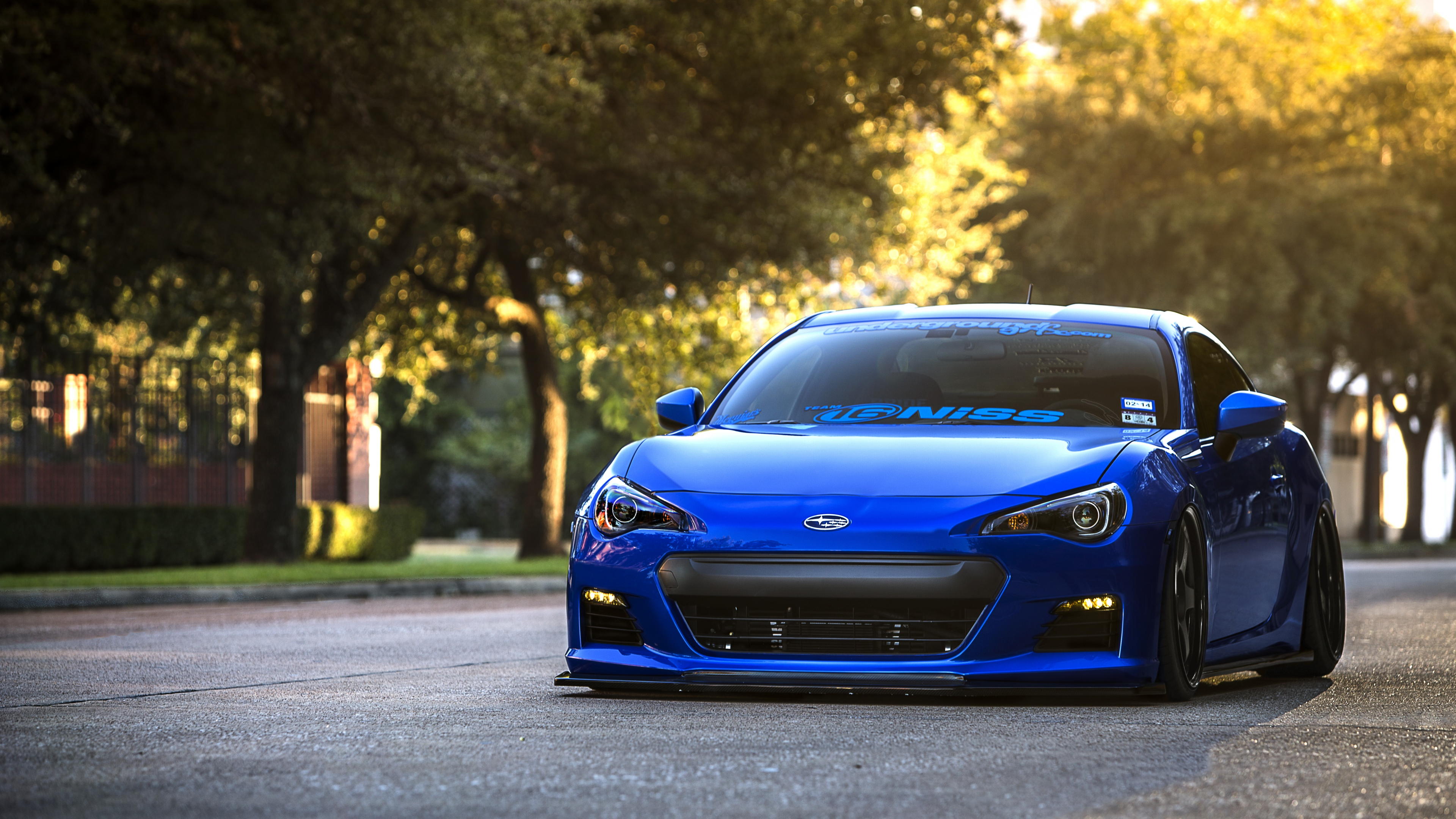 HD Wallpaper 38402160 subaru brz blue front sports car coupe 4K 3840x2160