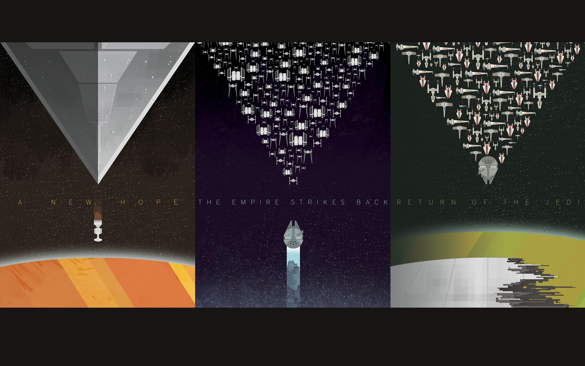 Star Wars Minimalist Space Posters 1920x1200