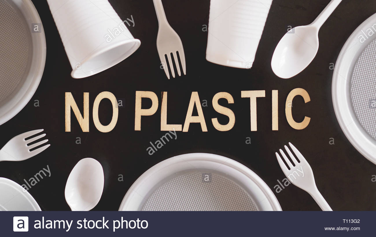 Say No Plastic Cutlery Plastic Pollution and Environmental 1300x821
