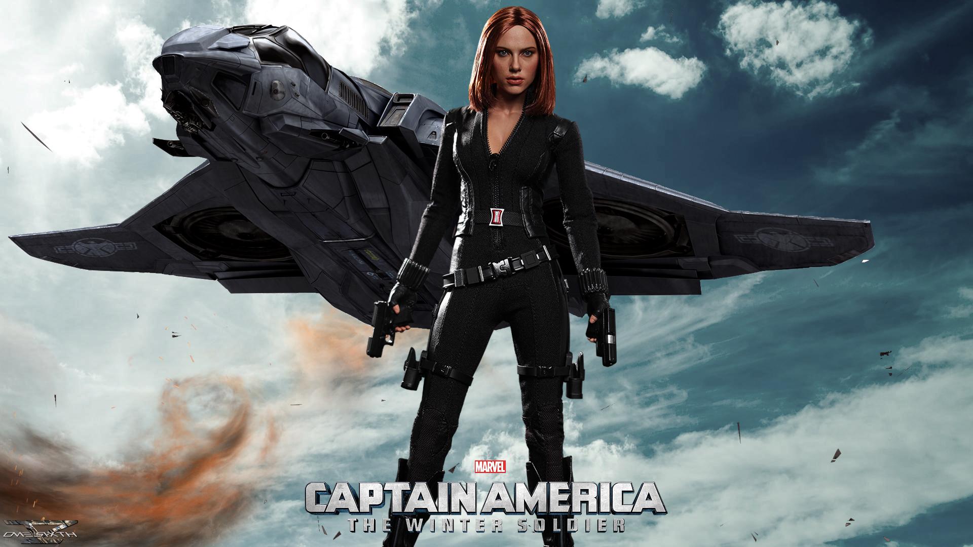 Captain America The Winter Soldier Wallpaper: Black Widow Spider Wallpaper