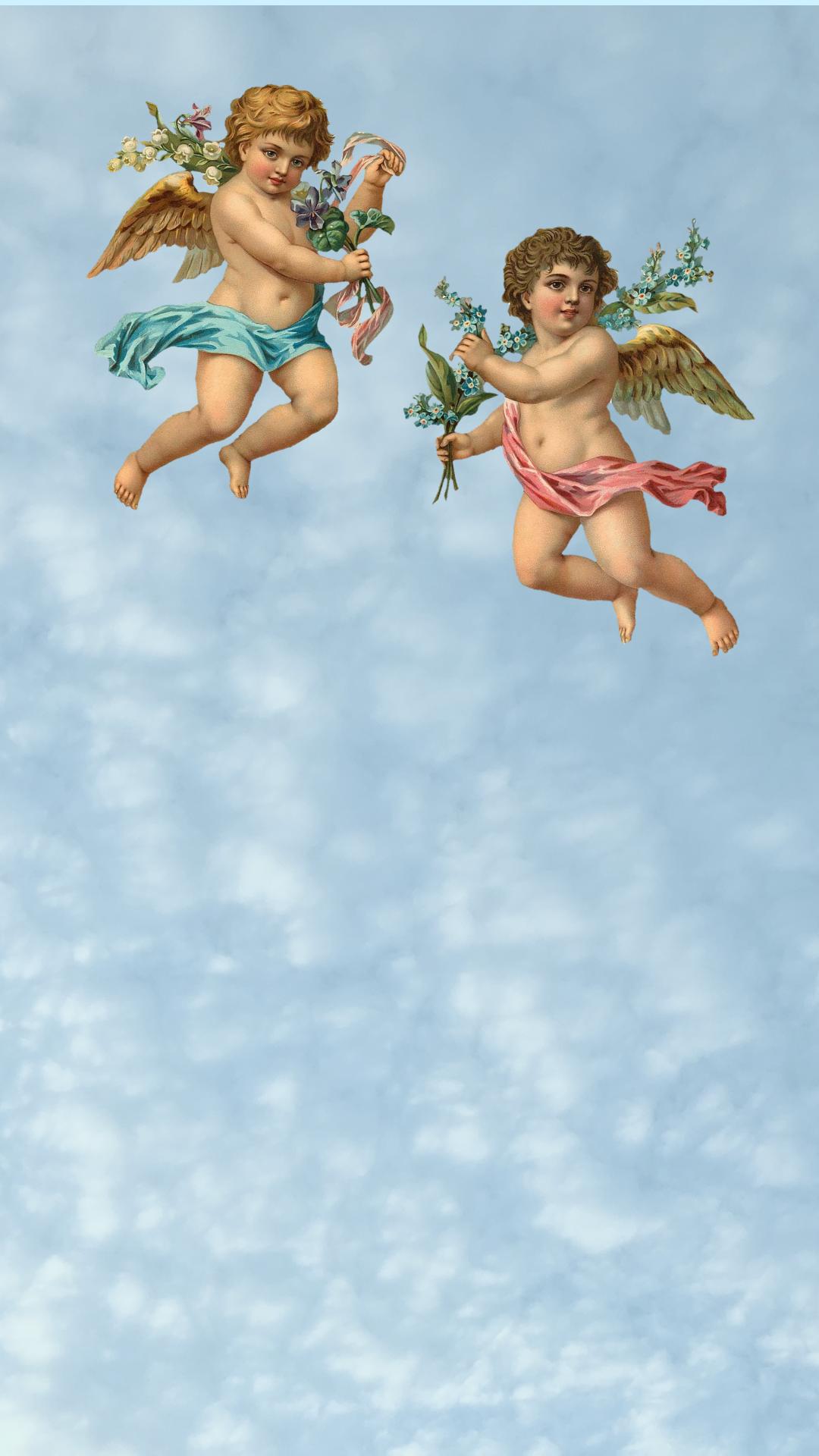 Cherub wallpaper Angel wallpaper Art wallpaper iphone Angel 1080x1920
