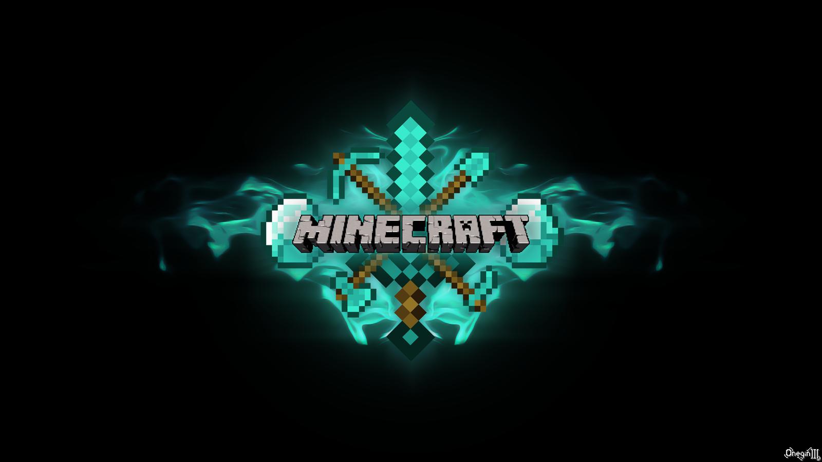 Minecraft Wallpaper Diamond Pickaxe images 1600x900