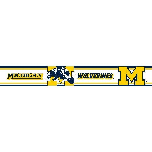Michigan Wolverines Wallpaper Border Collegiate Wall 500x500