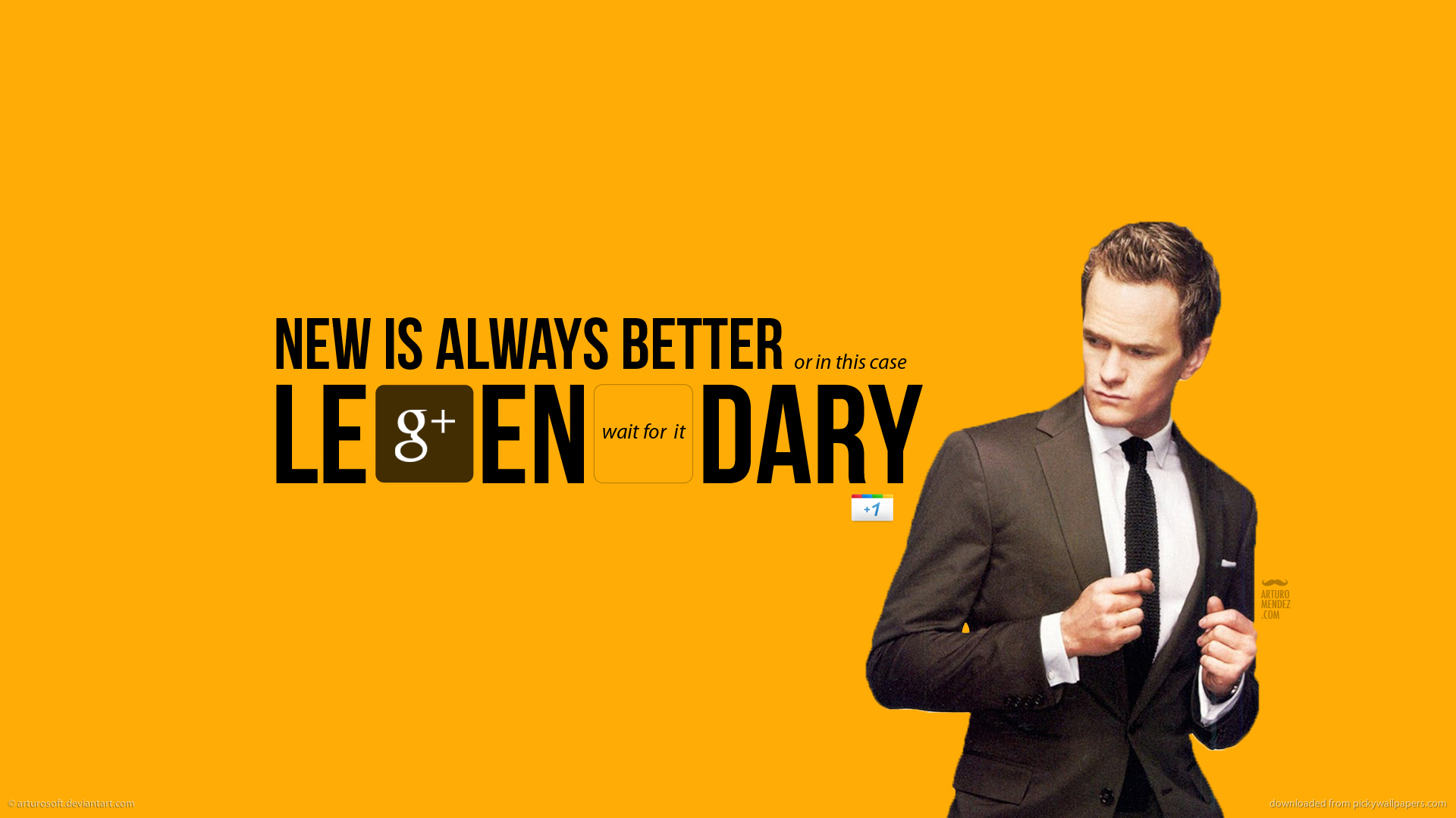 awesome barney stinson google google plus himym how i met your mother 1920x1080