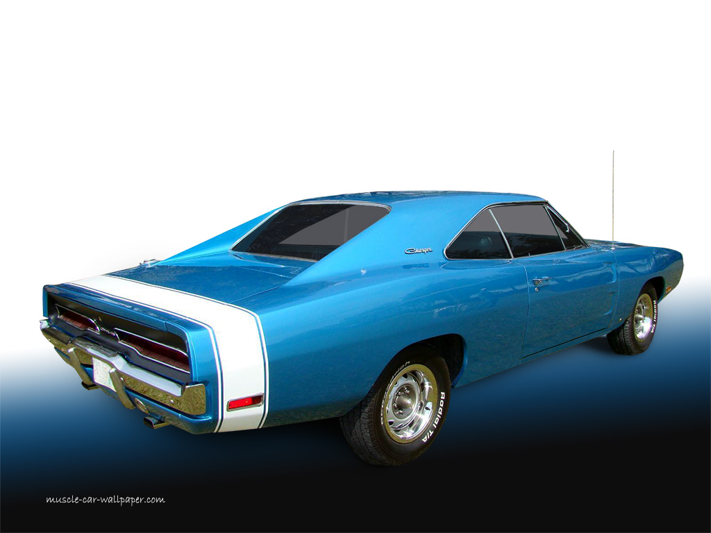 1970 Dodge Charger Wallpaper   Blue Hardtop   Right rear View 1024 02 1024x768