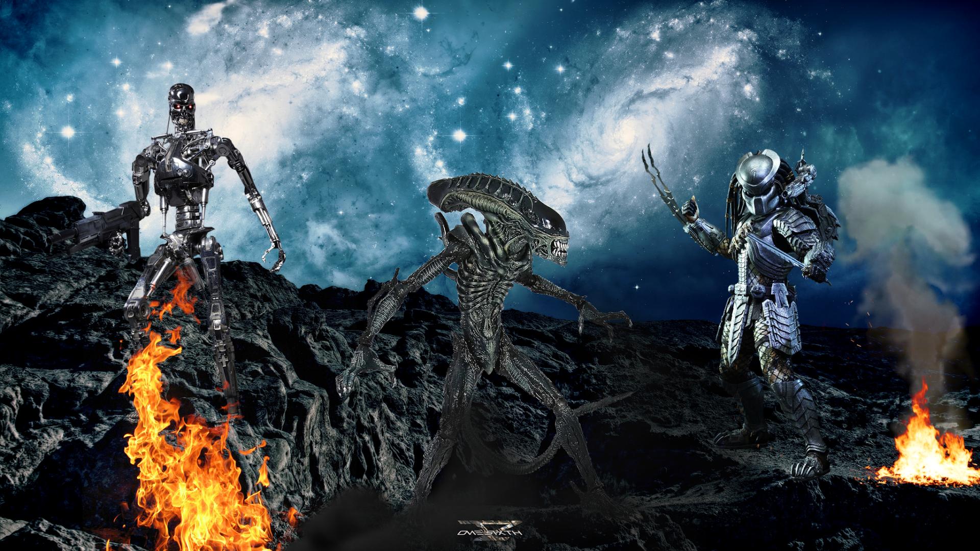 Free Download Alien Vs Predator Vs Terminator Hot Toys Full Hd