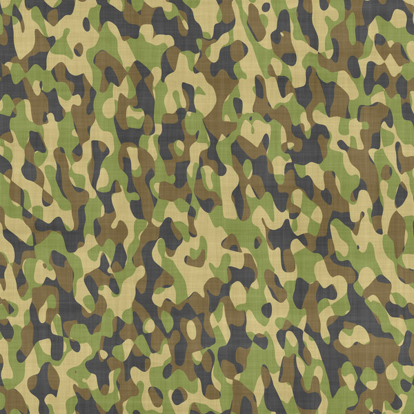 Camouflage 2 Camouflage patterned cloth in forest colours 600x600