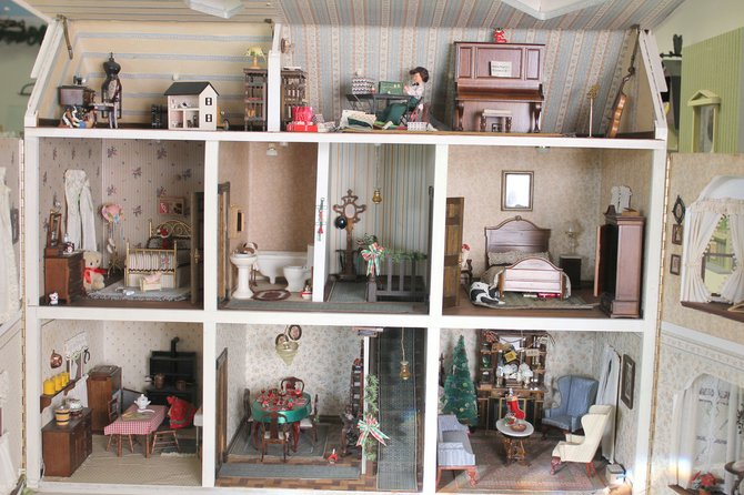 Miniature dollhouses are all about the details the wallpaper the 670x446
