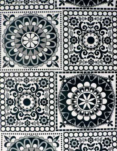 Black and white geometric wallpaper Surface pattern Pinterest 400x515
