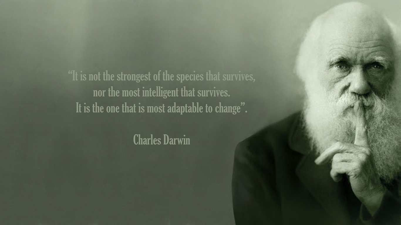 Darwin Quote Wallpaper 1366x768 ID54171   WallpaperVortexcom 1366x768
