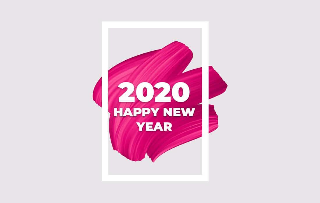Best Happy New Year 2020 Wallpaper Images for Desktops in HD 1100x700