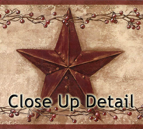 fairecomproductprimitive barn star wallpaper border pc3918bd 500x450
