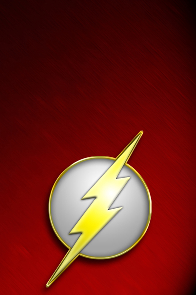 The Flash I4 drawns cartoons wallpaper for iPhone download 640x960