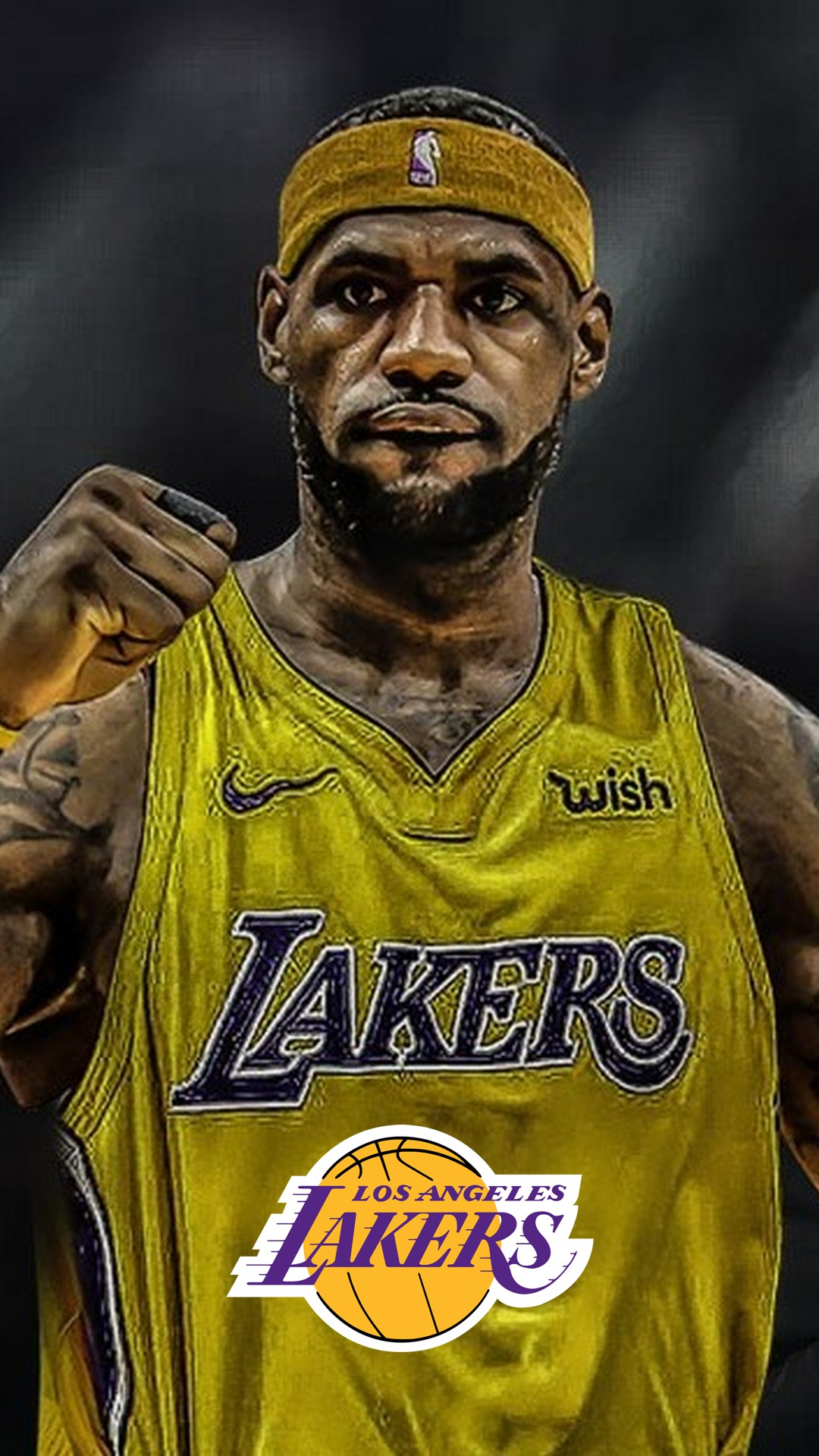 LeBron James Lakers HD Wallpaper For iPhone 2020 Basketball 1080x1920