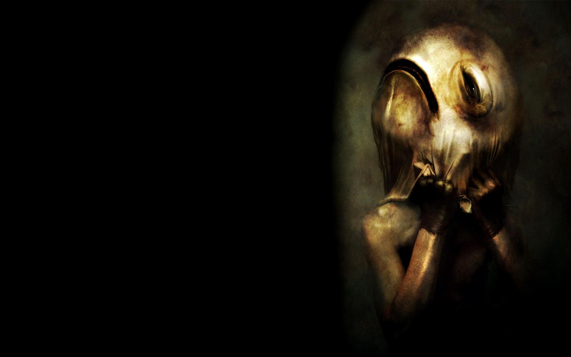 dark Horror Scary Dream Creepy Spooky Mask Macabre Art 1920x1200