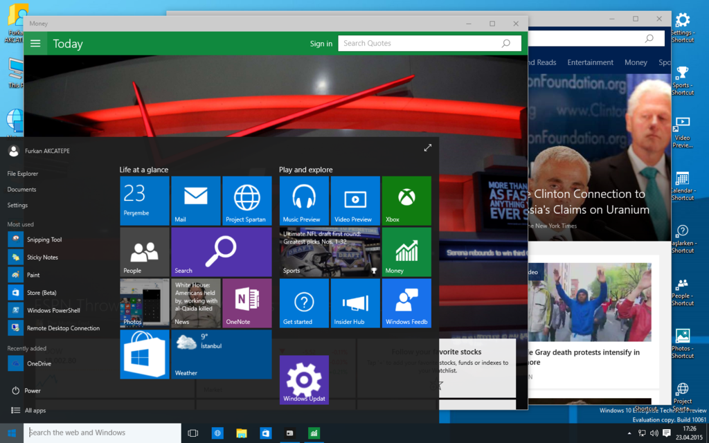 Windows 10 Technical Preview Build 10061 by furkooo85 1024x640