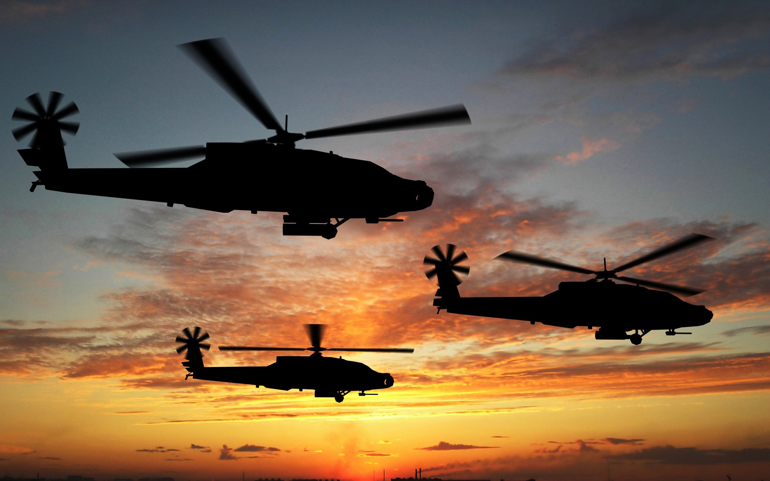 Boeing Apache Attack Helicopters Wallpapers HD Wallpapers 2560x1600