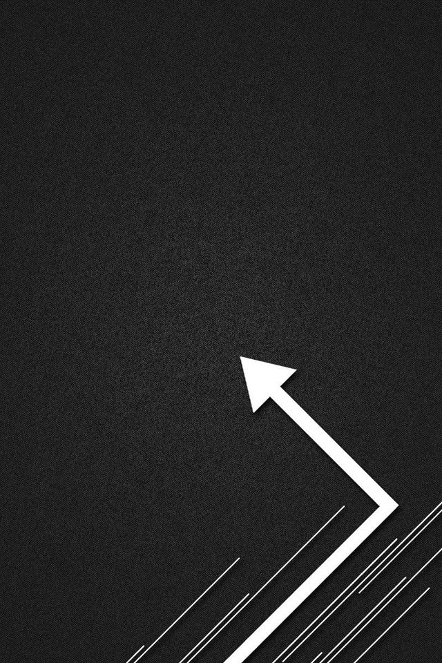 arrow label design black and white backgrounds iphone 4 wallpaper 640x960