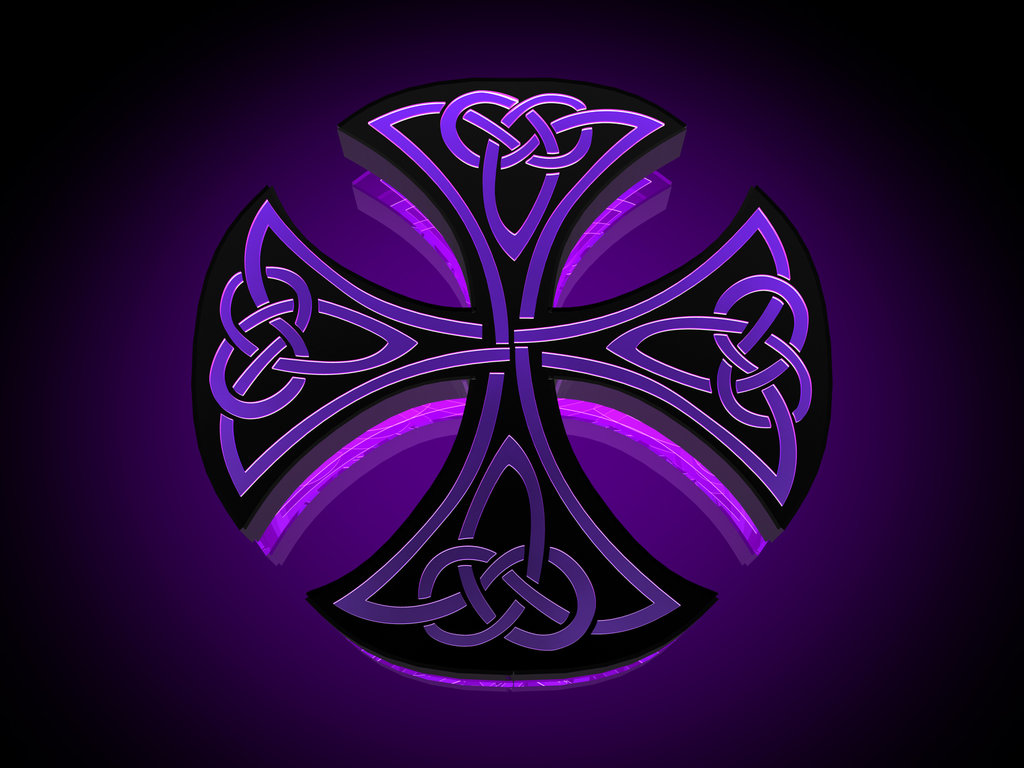 Purple Cross Wallpaper Celtic iron cross by tylerxy 1024x768