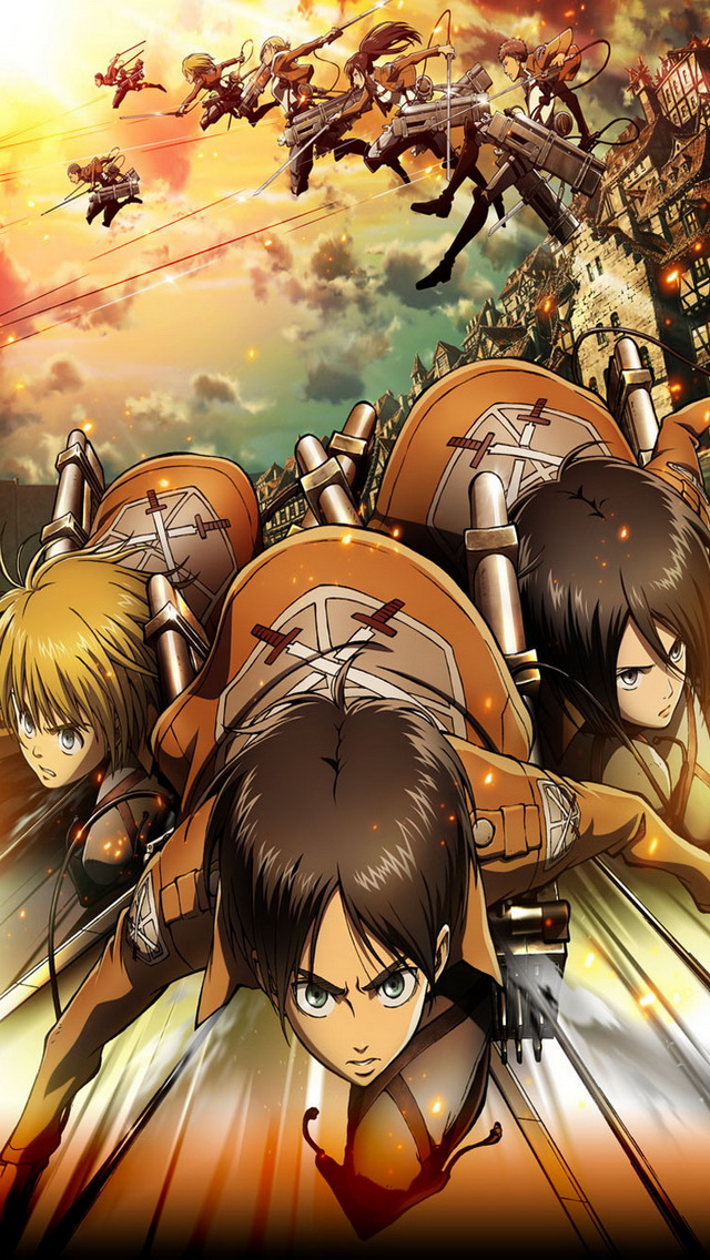 Attack on Titan iPhone 5 Wallpaper iPhone 5 Wallpapers Gallery 640x1136