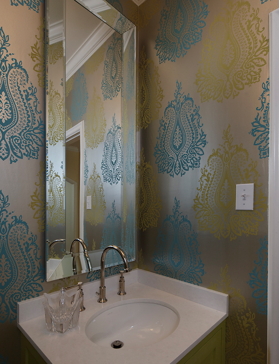 Metallic Wallpaper   Contemporary   bathroom   Artistic Designs for 567x740