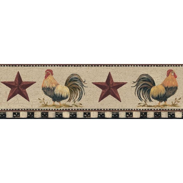 Chickens And Roosters Wallpaper Border 700x700