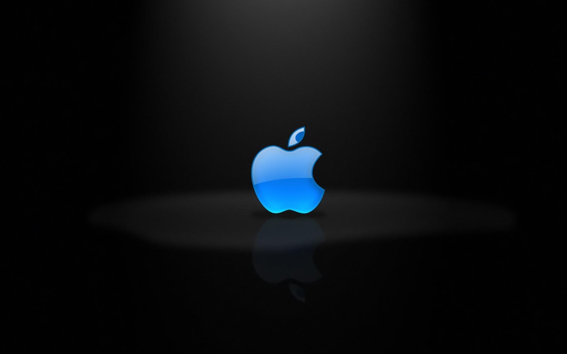 Blue Apple logo wallpaper 522 1920x1200