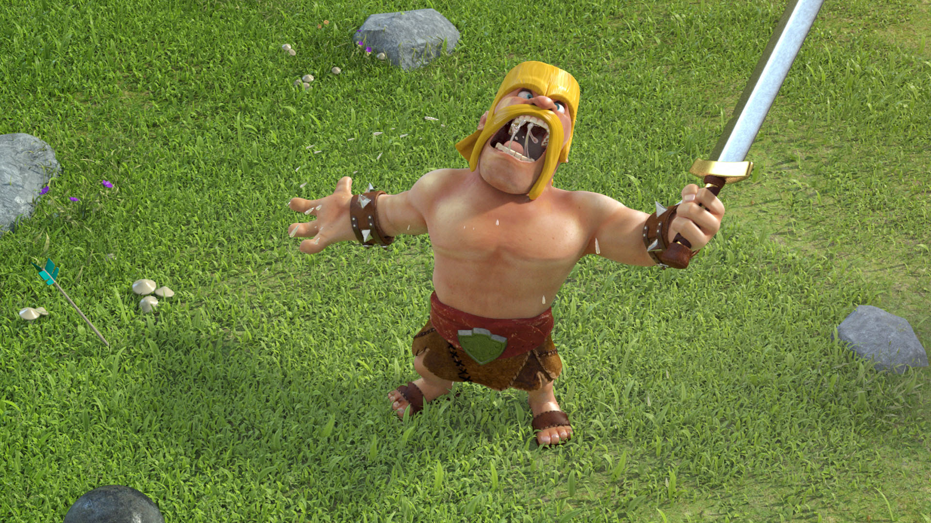 Clash of Clans   Barbarian yelling   1920x1080   Full HD 169 1920x1080