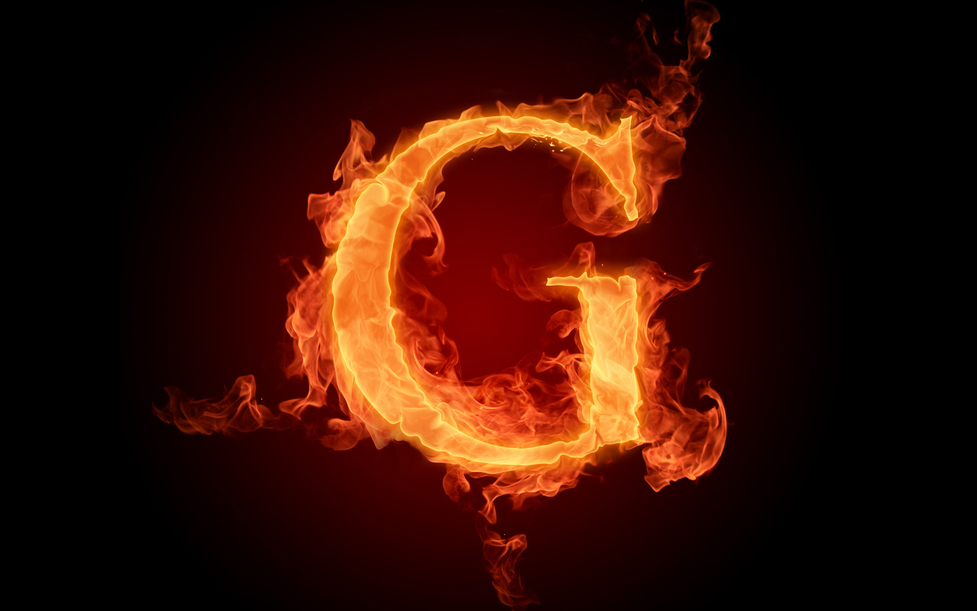 The fiery English alphabet picture G Wallpapers   HD Wallpapers 73621 1920x1200
