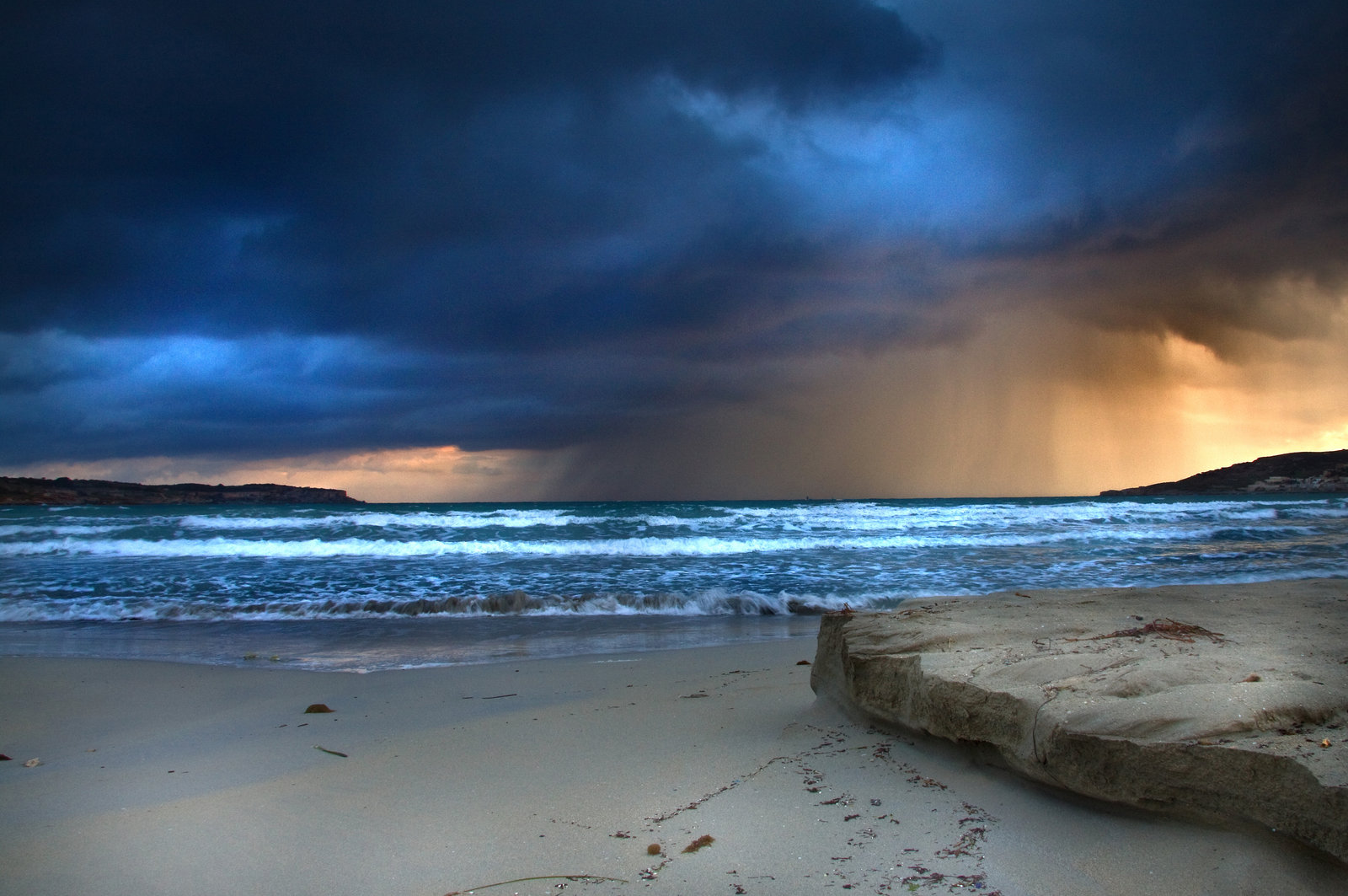 Stormy Beach Wallpaper - WallpaperSafari