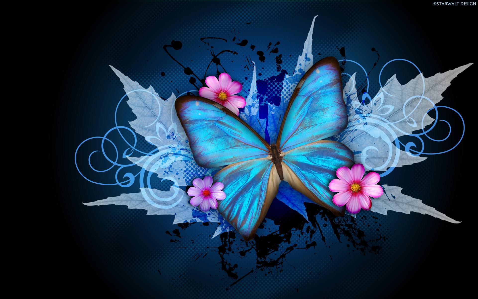 64 Abstract Butterfly Wallpaper On Wallpapersafari