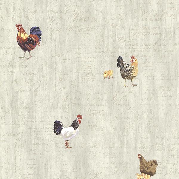 CTR64211 Grey Roosters Script  Lisle  By Chesapeake Wallpaper 600x600