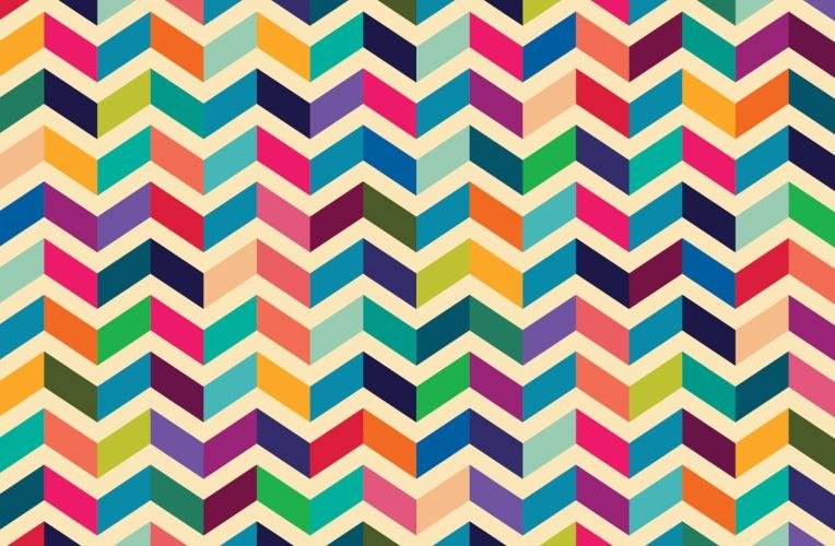 Multicoloured Zig Zag Pattern Wall Mural MuralsWallpapercouk 764x500