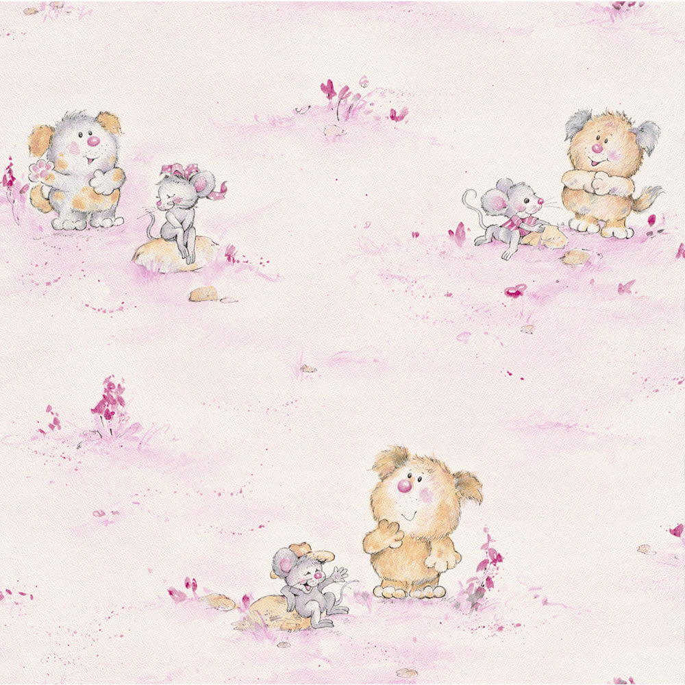 Pink teddy bear wallpaper wallpapersafari - Habitacion bebe papel pintado ...