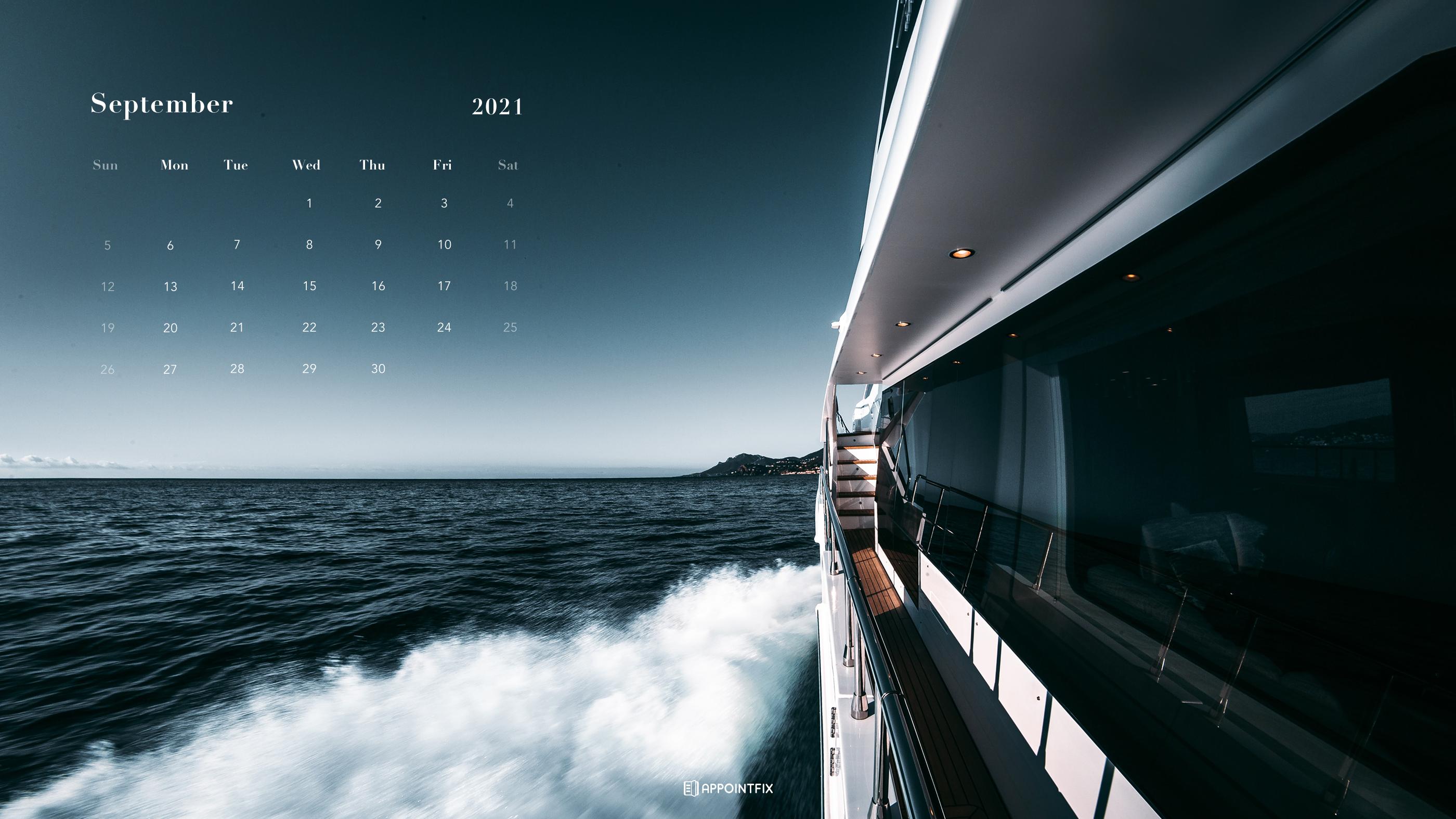 September 2021 Calendar Wallpapers Desktop Mobile 2800x1575