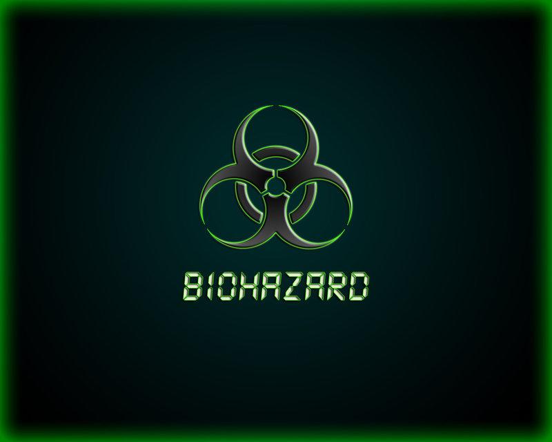 Biohazard green wallpaper by WinterWerewolf 800x640